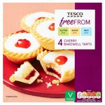 Tesco Free From Cherry Bakewells 4 pack
