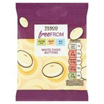 Tesco Free From White Chocolate Buttons 25g