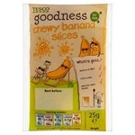 Tesco Goodness Dried Banana 25g