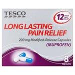 Tesco Long Lasting Pain Relief Ibuprofen 8 Capsules