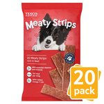 Tesco Meaty Strips with Beef 20 Pack