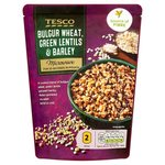 Tesco Microwave Bulgur Green Lentils And Barley 250G