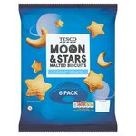 Tesco Moon and Stars Malted Biscuits 6 x 18g