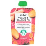 Tesco Organic Veggie and Salmon Pie 7 months 130g