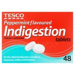 Tesco Peppermint Flavoured Indigestion Tablets X48