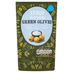 Tesco Pitted Green Olives with Sea Salt 70G