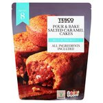 Tesco Pour And Bake Salted Caramel Cakes 500G