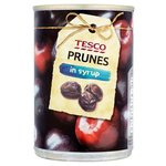 Tesco Prunes In Syrup 420g tin