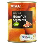 Tesco Ruby Red Grapefruit Segments In Juice 538g tin