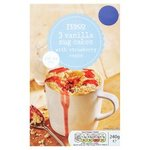 Tesco Vanilla Strawberry Mug Cake Mix Triple Pack 240G