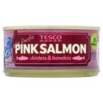Tesco Wild Pacific Skinless And Boneless Pink Salmon 170g