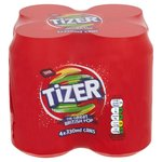 Tizer 4 x 330ml Cans