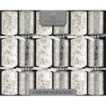 Tom Smith Premium Silver and White Christmas Crackers 14inch 6 per pack