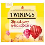 Twinings Strawberry and Raspberry Tea 80 Teabags