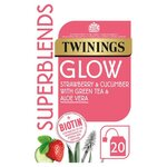 Twinings Superblends Glow Strawberry Cucumber and Green Tea 20 Tea Bags