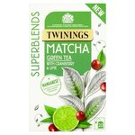 Twinings Superblends Matcha Green Tea with Cranberry and Lime 20 Tea Bags