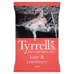 Tyrrells Ham and Cranberry Crisps 150g