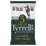 Tyrrells Sea Salt and Vinegar Potato Chips 5 Pack