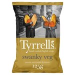 Tyrrells Swanky Veg Parsnip Sweet Potato and Plantain Crisps 125g