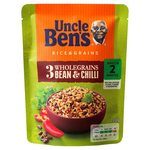 Uncle Bens Express Rice And Grains 3 Wholegrain Bean and Chilli 220g