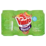 Vimto Remix No Added Sugar Watermelon Strawberry and Peach 6x330ml Cans