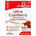 Vitabiotics Ultra Cranberry Tablets X30