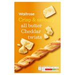 Waitrose All Butter Savoury Cheddar Cheese Twists 125g