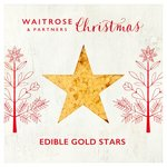 Waitrose Christmas Edible Gold Stars 13g