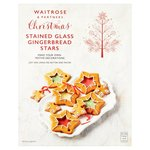 Waitrose Christmas Gingerbread Stained Glass Stars 265g