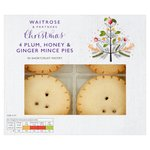 Waitrose Christmas Plum Honey and Ginger Mince Pies 200g