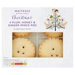 Waitrose Christmas Plum Honey and Ginger Mince Pies 200g