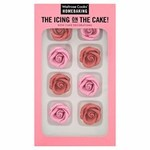 Waitrose Cooks Ingredients Large Sugar Rose Decoration 8 Pack