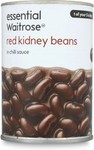 Waitrose Essential Red Kidney Beans in Chilli Sauce 395g