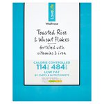 Waitrose Love Life Toasted Rice and Wheat Flakes 500g