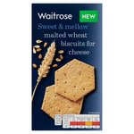 Waitrose Malted Wheat Biscuits For Cheese 130g