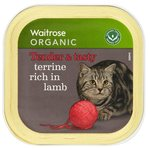 Waitrose Organic Terrine Rich in Lamb Cat Food 100g