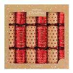 Waitrose Red Foil Christmas Crackers 6 x 12.5