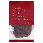 Waitrose Whole American Cranberries 200g