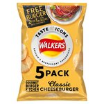 Walkers Gourmet Burger Kitchen Classic Cheesburger Crisps 5X25g