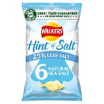 Walkers Hint of Salt Natural Sea Salt Crisps 6 Pack
