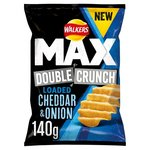 Walkers Max Double Crunch Chedar and Onion Crisps 140g