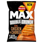 Walkers Max Double Crunch Chicken and Chorizo Crisps 140g