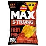 Walkers Max Strong Fiery Peri Peri Crisps 150g