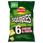 Walkers Squares Cheese and Onion 6 pack