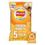 Walkers Taste Icons Chicken Burrito Crisps 5 x 25g