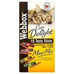 Webbox Cats Delight Mini Sticks with Cheese Salami Malt and Liver 16 Pack