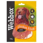 Webbox Chicken Fillets Dog Treats 100g