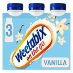 Weetabix On The Go Vanilla Drinks 3 x 250ml