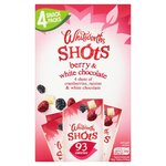Whitworths Berry and White Chocolate Shots Multipack 4 per pack
