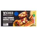 Wicked Kitchen 5 Gold Shimmer Bakewell Slices